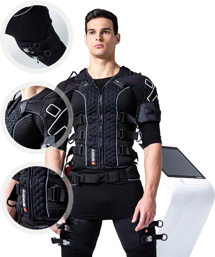 Man Wearing EMS - Smart Fit